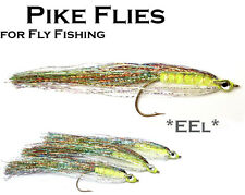 3x *EEL* (MPF4) Pike Fly - Flies for Pike Saltwater & Predator Fly Fishing