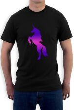 Unicorn Dripping Multicolor Ink Print T-Shirt Galaxy Space Dope Tee Top Hipster
