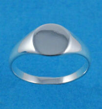 New Ladies Sterling Silver Signet Ring 8mm UK Sizes 925 Hallmarked