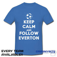 ESTAMPADO KEEP CALM FÚTBOL SEGUIDOR CAMISETA ADULTO/TALLAS NIÑOS - EVERTON