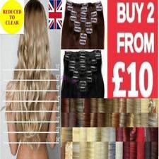 Long hair clip in hair extensions straight curly/wavy high heat best fibre hair