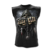 Spiral Direct Game Over Scheletro Mietitore Nero Top Senza Maniche T-Shirt