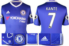 *2016 / 2017 - ADIDAS ; CHELSEA HOME SHIRT SS + PATCHES / KANTE 7 = SIZE*