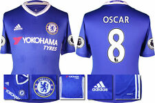 *2016 / 2017 - ADIDAS ; CHELSEA HOME SHIRT SS + PATCHES / OSCAR 8 = SIZE*