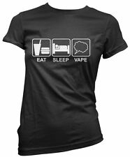 Eat Sleep Vape E-Cig Electronic Cigarettes Women's T-Shirt