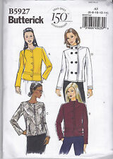 Butterick Sewing Pattern Misses' Lined Jacket Sizes 6 - 22 B5927 HALF PRICE