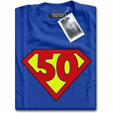 NEW Super 50 Years Old 50th Birthday Party Top Superhero Gift Present T-Shirt
