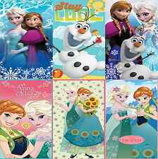 Official Disney Frozen Elsa Anna Cotton Beach Bath Towel Frozen Towel 15 Designs