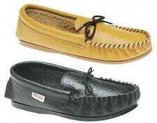 Mokkers GORDON Mens Leather (Made in England) Slip On Flexible Moccasin Slippers