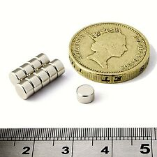 Neodymium Disc Magnets 5mm Dia x 3mm Thick Grade N50 Small & Strong Round Magnet