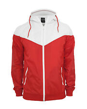 Urban Classics - Arrow Windrunner, Regenjacke Red/White Rot Weiß