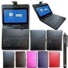 Keyboard Case Leather Cover Wallet Stand Folio for 8-9 inch Tablet + Stylus Pen