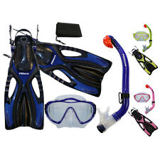 PROMATE Junior Snorkeling Scuba Diving Maschera impermeabile Snorkel Set Pinne