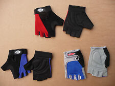 Cycling Mitts Fingerless Bicycle Gloves Mens & Ladies NEW Road MTB Blue Red