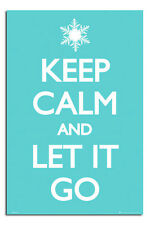Keep Calm And Let It Go Disney Frozen Song Poster New - Maxi Size 36 x 24 Inch
