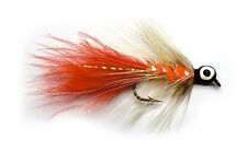 3x, 6x or 12x Fly Fishing Trout Flies (MLH4)  MINI ORANGE LEADHEAD Trout Lure