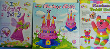 Kids Craft Set - Eva Fairy, Fantasy Castle or Rainbow Teddy Bear (All Materials)