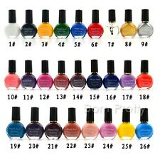 10ml Nail Art Template Stamping pochoir Polish Varnish Vernis à Ongle Manucure
