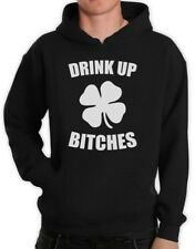 Drink Up Bitches Hoodie For St.Patrick's Day Irish Green Shamrock Hooded Top