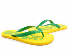 Adidas Flipper Yellow Green Flat Flip Flop Mens Boys Sandals Size 5-12 UK
