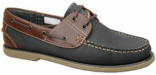 Mens Brand New Blue Lace Up Leather Moccasin Boat Shoes Size 6 7 8 9 10 11 12
