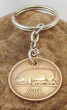 Irish 1/2d Half Penny Leath Phingin Keyring Birthday Pig Sow & Litter 1937 -1967