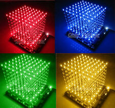 3D LightSquared DIY Kit 8x8x8 3mm LED Cube White LED Blue Red Green Yellow Ray