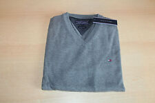Tommy Hilfiger  Sweatshirt Pullover Sweater Pacific V Neck grau
