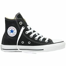 Converse Chuck Taylor All Star Hi Leather Black Womens Trainers