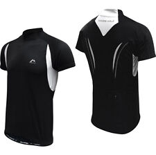 More Mile Short Sleeve Mens Cycle Jersey - Black