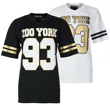 Mens Zoo York Football Jersey NFL Inspired Casual Streetwear Top T-Shirt Size