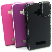Protective Plain Leather Wallet Flip Case Cover for Nokia Lumia 610
