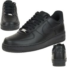 Nike AIR Force 1 Leder Sneaker Lifestyle Schuhe schwarz Men