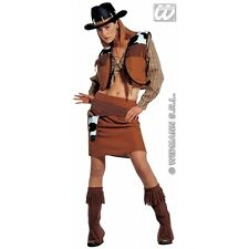 Ladies Womens Western Cowgirl Costume for Cowboy Wild West Fancy Dress