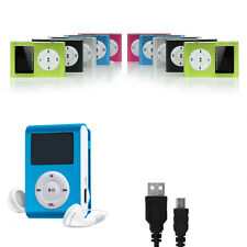 MP3 Musik Player mini Spieler Sport Metal Clip Digital Zubehörpaket MicroSD