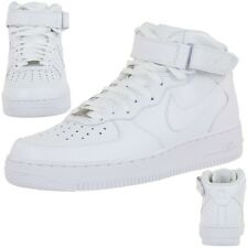 Nike AIR Force 1 Mid Leather Trainers Lifestyle Shoe white Men
