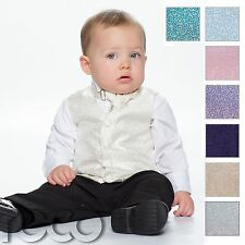 Baby Boys Waistcoat Suit, Page Boy Suits, Black Trousers, Swirl Pattern