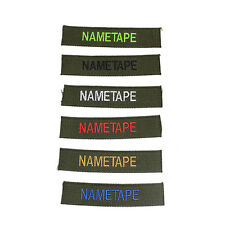 CUSTOM OFFICIAL MILITARY NAME TAPE BADGE, ZAP NUMBER VELCRO BACKING- SET OF 6