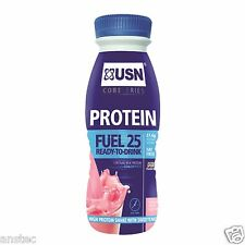 USN Protein Fuel 25 Ready-to-Drink Protein Shakes 330 ml, 8 x Bottles