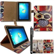 "Universal Multi Angle Wallet Case Cover Folio for 10.1"" Inch Tablet & Stylus"