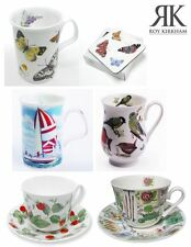 Roy Kirkham China Mugs Cups Sets, Birds, Butterflys, Boats or Strawberry