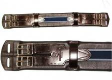 SALE FRANK BAINES English Leather Comfort Padded Flexible Elastic Dressage Girth