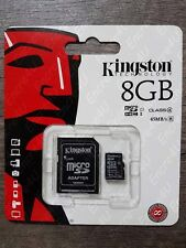 Carte Mémoire KINGSTON 8 Go Gb Micro SDHC - Existe aussi en 4 16 32 ou 64 Giga