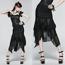 PUNK RAVE Gothic Rose Skirt Gothic Rock EDEL ROMANTIC VICTORIAN GOWN PROM