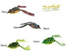 Pesca Esca Siliconica Rapture Dancer Frog Top Water Special Black Bass      RN
