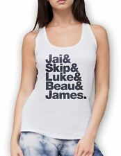 Jai Skip Luke Beau & James Womens Black or White Vest Top Tank T Shirt Girls tee