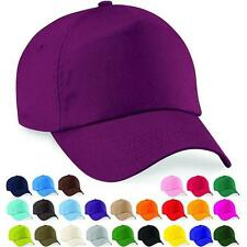 Kids Girls Baseball Cap Adjustable Classic Cotton Summer Sun 5 Panel Hat Caps