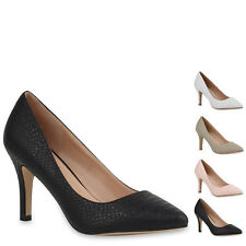 Elegante Spitze Damen Pumps Pointy High Heels Pastell Schuhe 76860 New Look