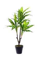 Best Artificial 3ft 90cm VARIEGATED DRACAENA Tree Plant Tropical House PALM New