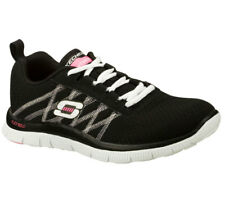 NEU SKECHERS Damen Sneaker Turnschuh Memory Foam FLEX APPEAL SOMETHING FUN black
